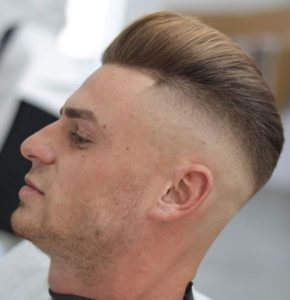 Brushed Back Fade Hairstyle
