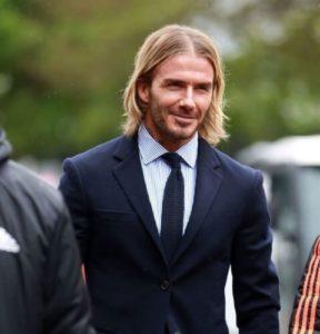 David Beckham guys' shoulder size hairdos
