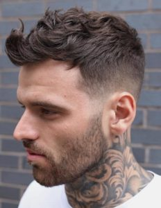 how to style wavy hair for mens