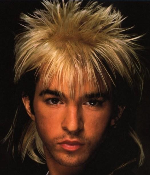 80s men hair