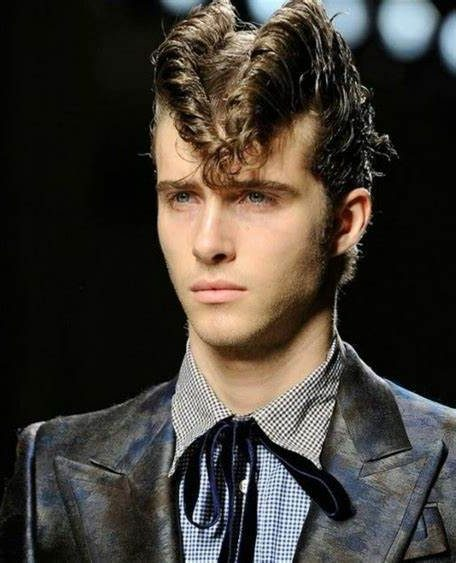50s Mens Hairstyles Retro  Ducktail