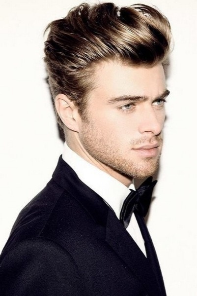 8 2 - Best Mens hairstyles long face & Tall Forehead