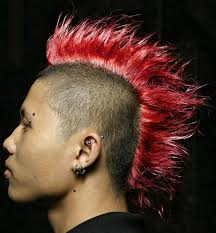 80s Colorful Punk Hairstyles Mohawk