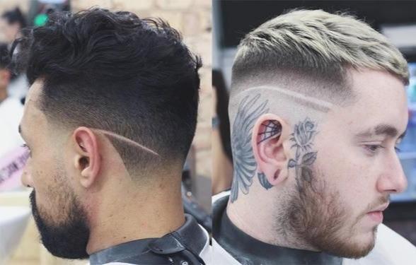 90s Mens Hairstyles Tram Lines