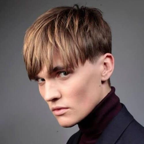 Bowl Cut Hairstyles for Men with Straight Hair