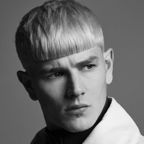 Front Fringe Haircuts for Men with Straight Hair