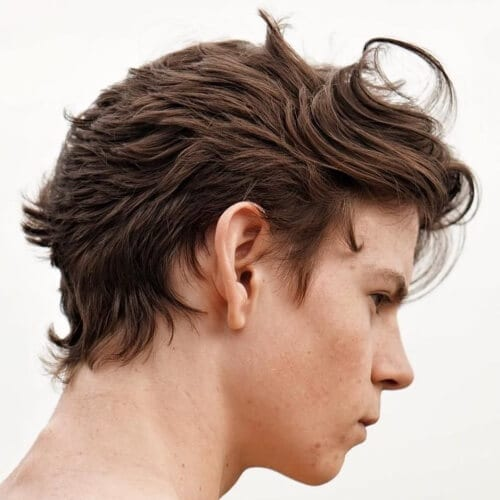Short Back and Layers Hairstyles for Men with Straight Hair