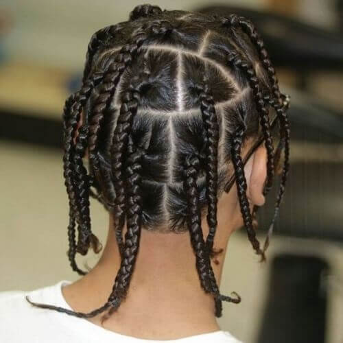 Straight Hair Box Braids Men