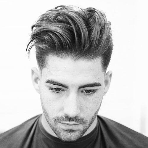 Taper Haircuts with Long Tops