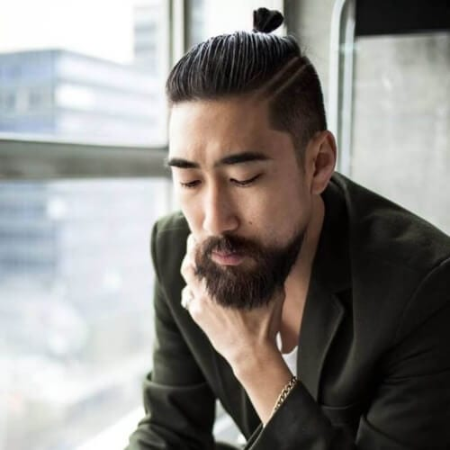 Top Knots for Long Straight Hair Men