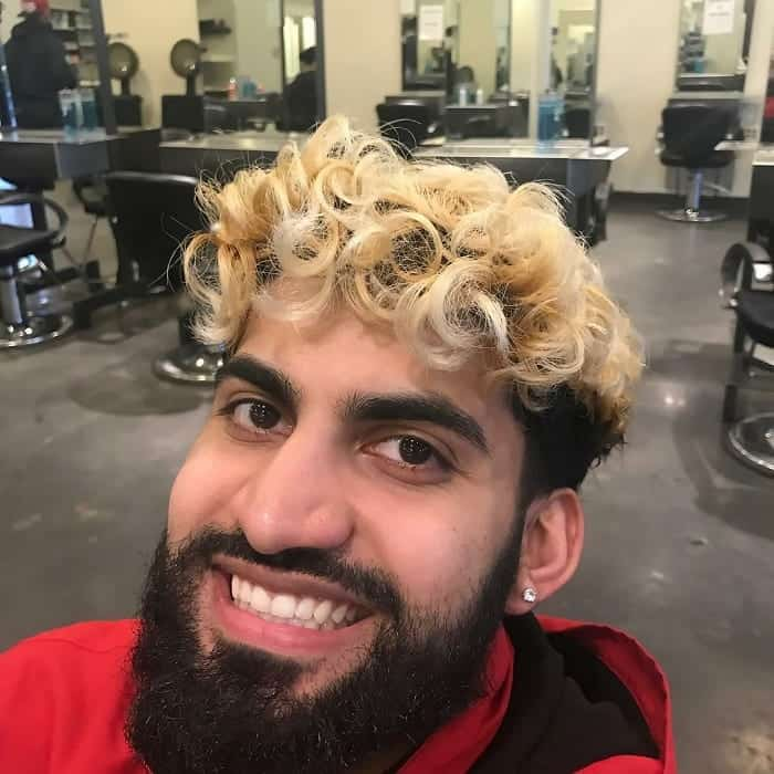 Blonde Black Men Undercut