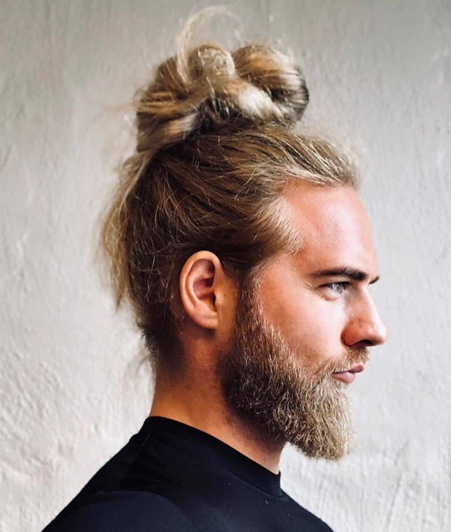 Blonde Man Bun