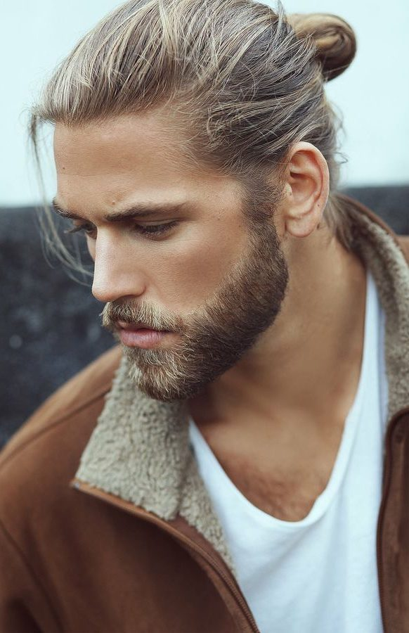 Blonde Man Bun and Ponytail