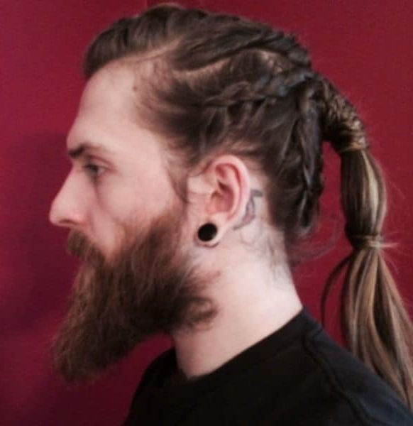 Braided Viking With Bubble Ponytail