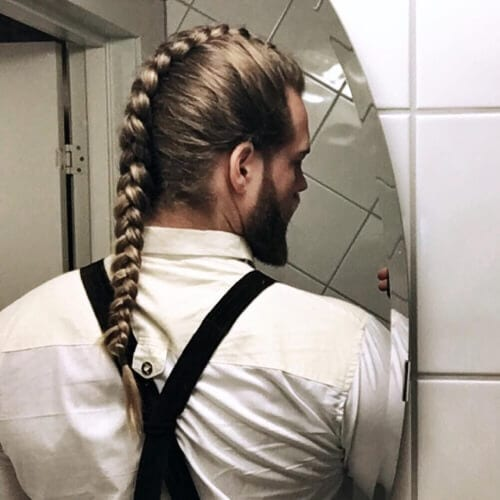 Classy Braid with Expertly-Trimmed Beard