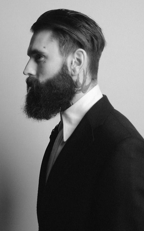 Comb Over With A Voluminous Beard