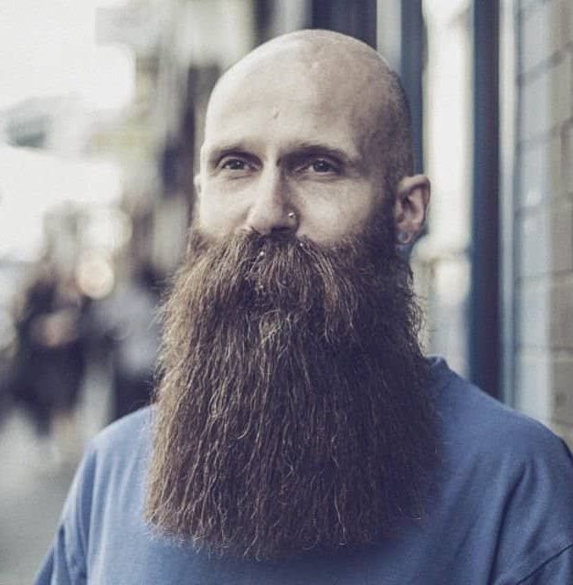 Complete Bald With Medium Blunt Beard