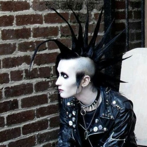 Death Hawk Punk Hairstyles For Guys