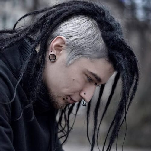 Dreadlocks with Short Dyed Sides