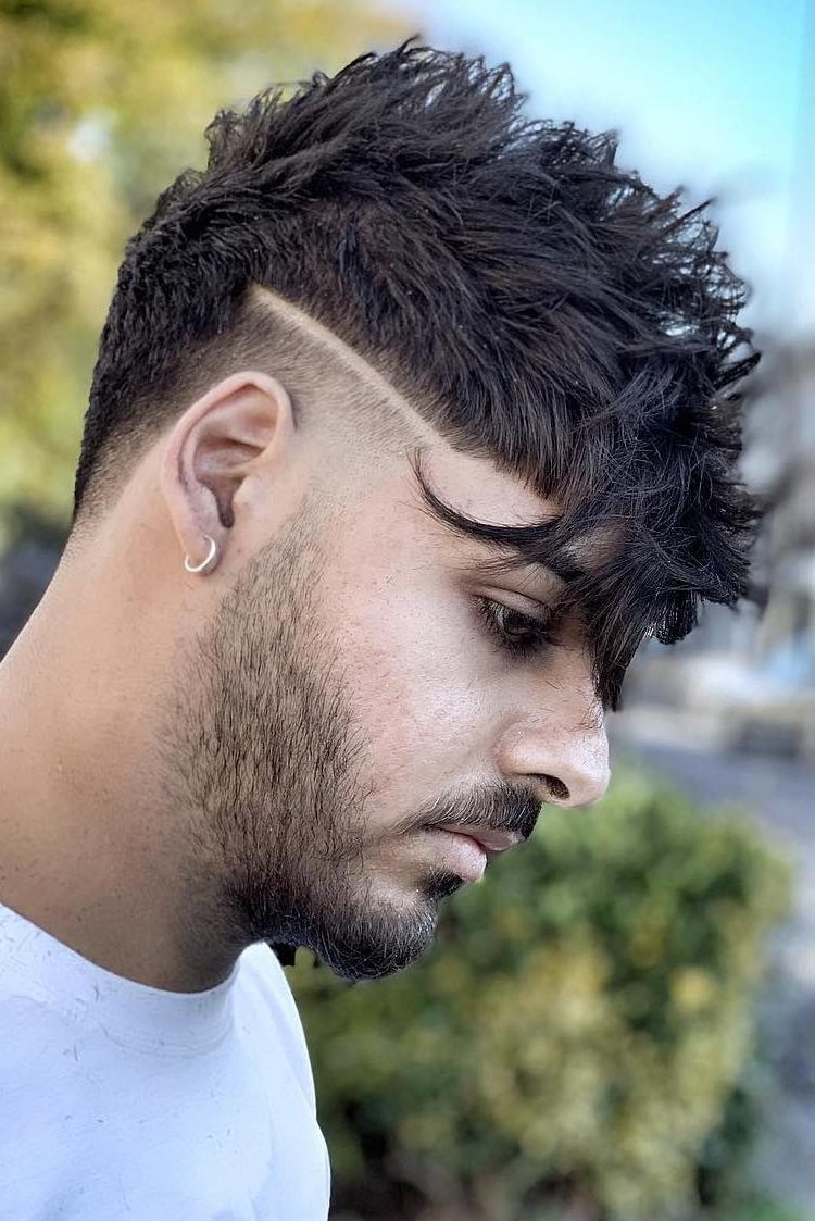 Extremely Hardcore Textured mens fringe hairstyles
