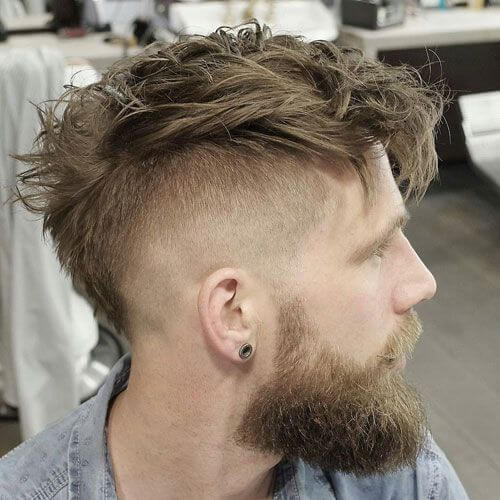 Layered Haircut With Full Beard