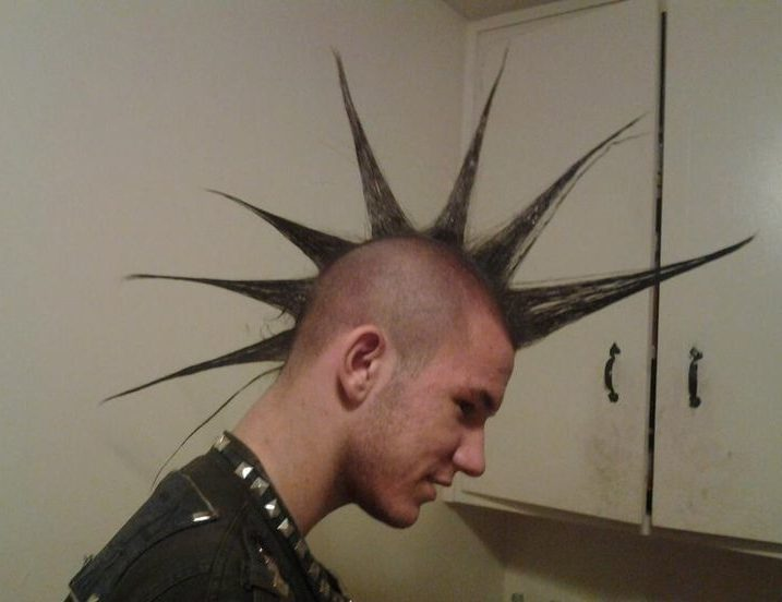 Liberty Spikes Mohawks Mens Punk Hairstyles