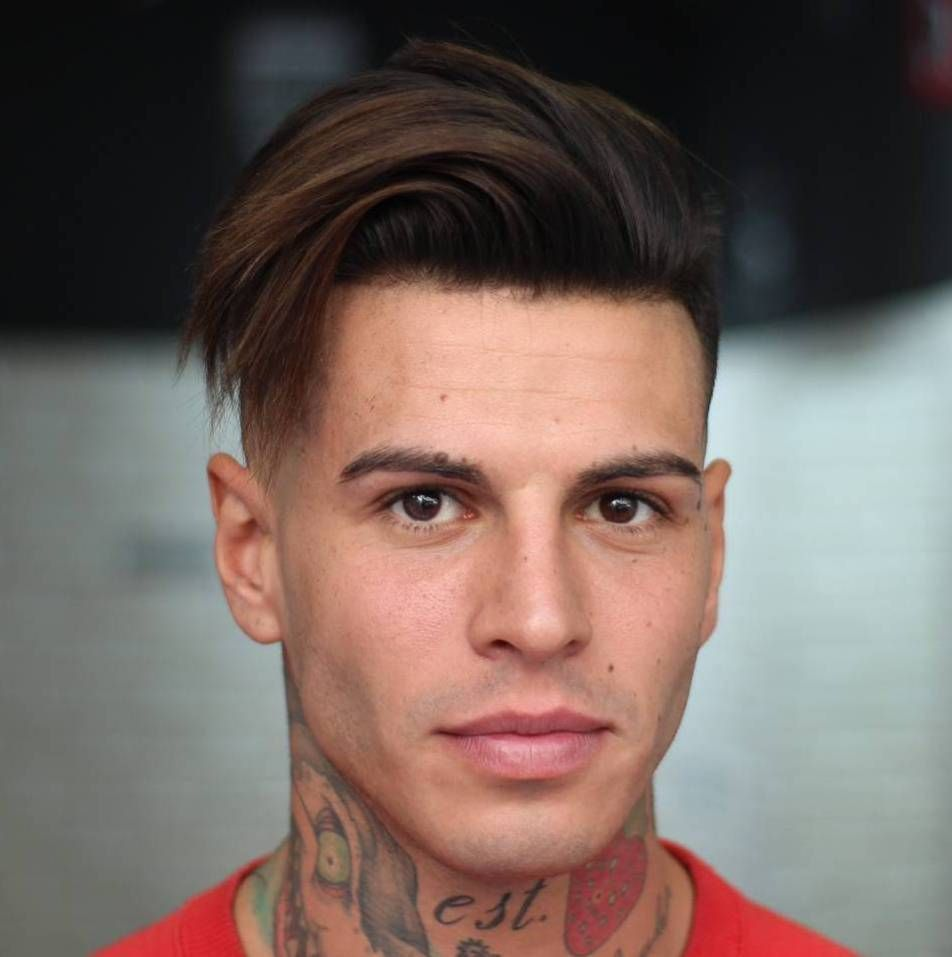 Long Top and Shaved Sides Punk Hairstyles