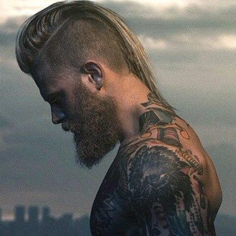 Long Viking Mohawk Hairstyle
