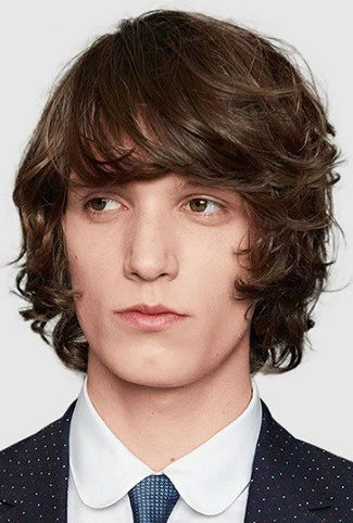 Longer Length With Full mens fringe hairstyles