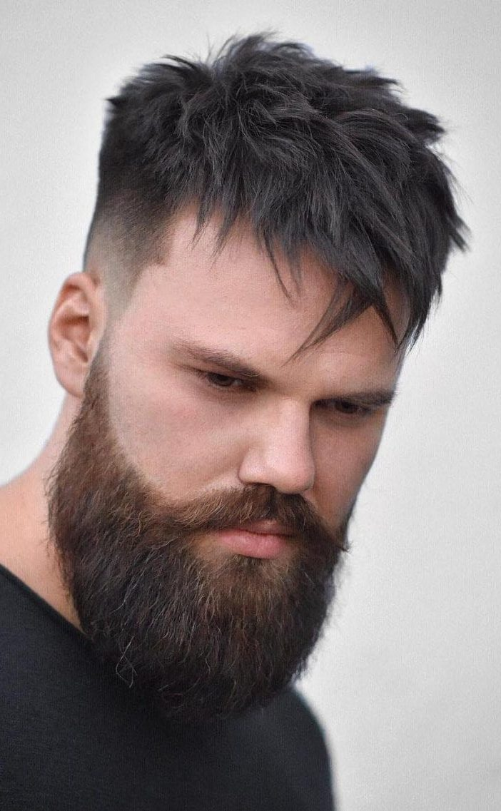mens fringe hairstyles Long Spiked Texture