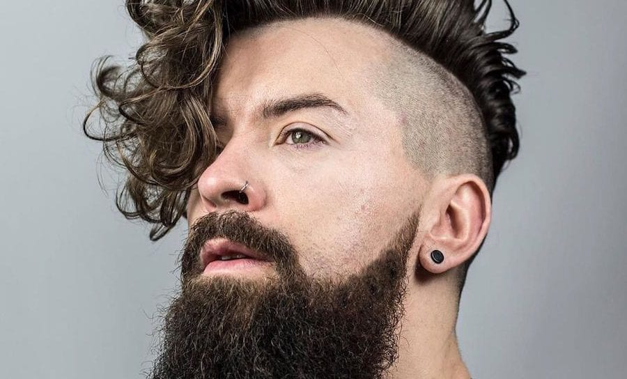 Mens Punk Hairstyles Curly Pompadour