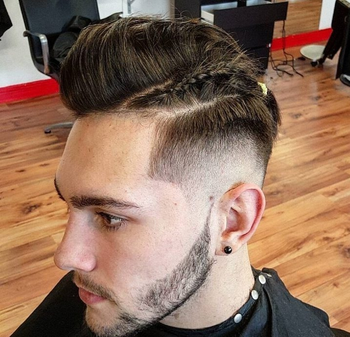 Mens Straightened Hairstyles Pomp + Man Braid
