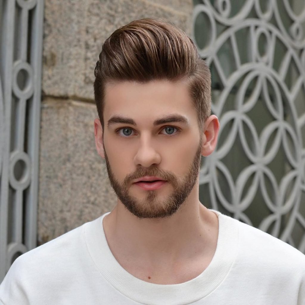 Mens Straightened Hairstyles Quiff