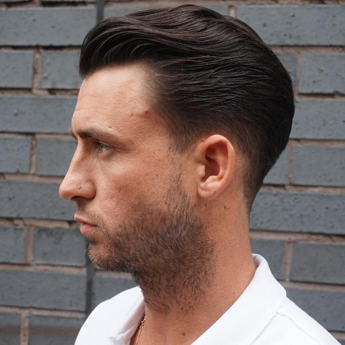 Mens Straightened Hairstyles Slick Back