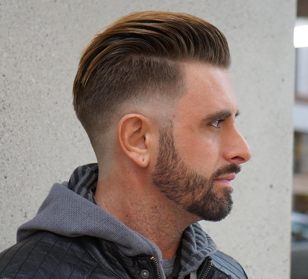 Mens Straightened Hairstyles Taper Fade