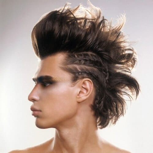 Mohawk with Braided Sides
