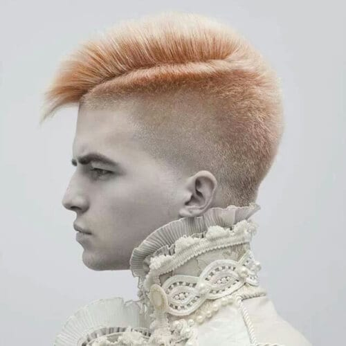 Thick Hair with Undercut Dyed Peach?