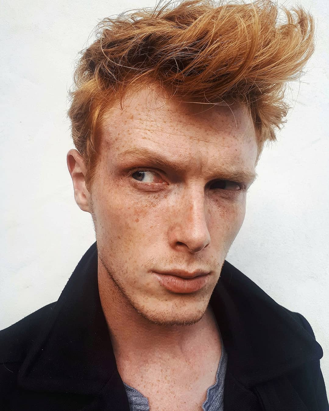 Redhead Bedhead Messy Mens Hairstyles