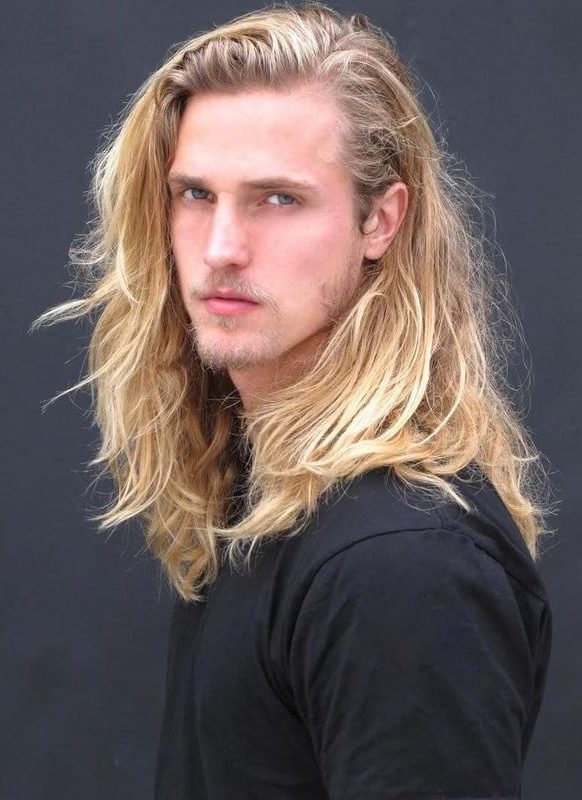 Sexy Long Blonde Hair Styles for Guys