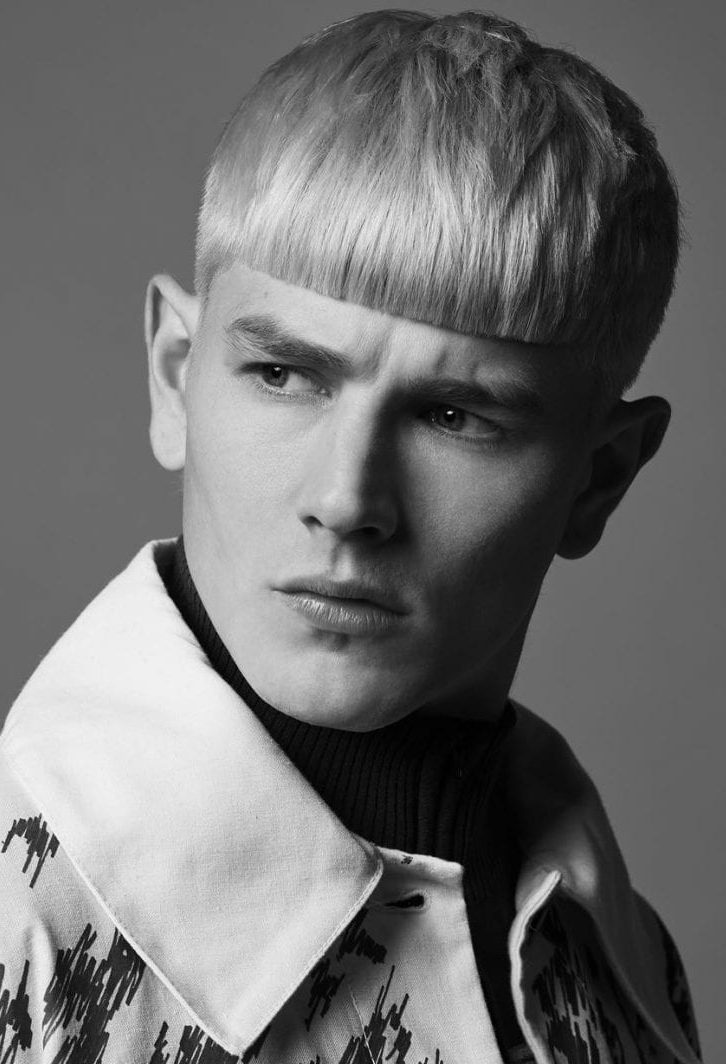 Straight mens fringe hairstyles