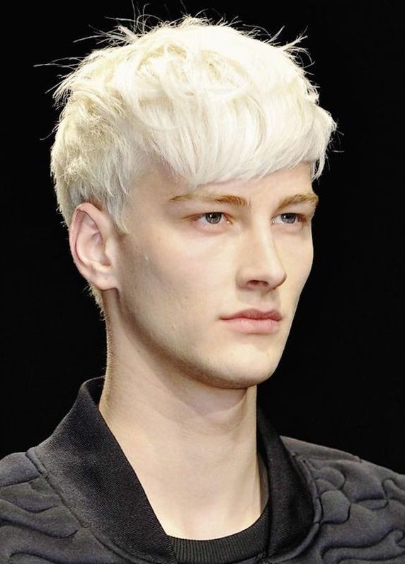 Stylish Hairstyles for Platinum Blonde Hair Men