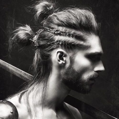 The Double Braided Man Bun