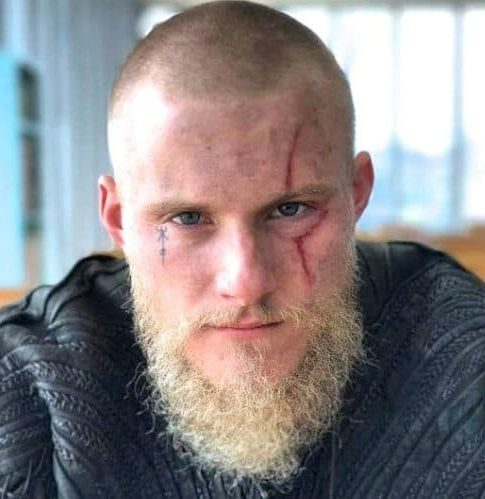 Viking Buzz Cut With Blonde Beard