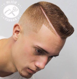 men hair long top short sides