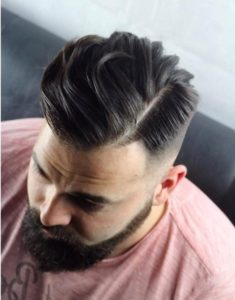 hairstyle for fat man