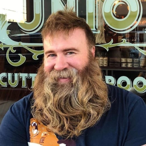 Curled Viking Beard Styles
