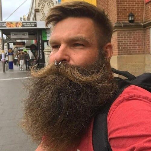 Handlebar Mustache Beard