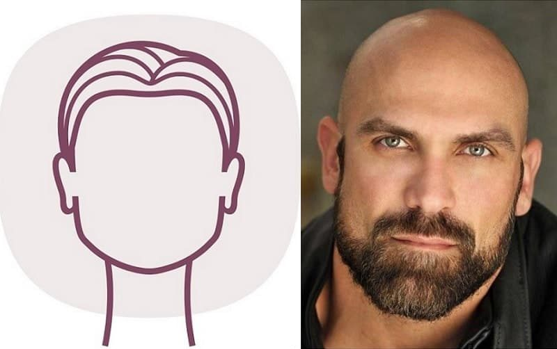 Beard for Shaved Head with Square Faces