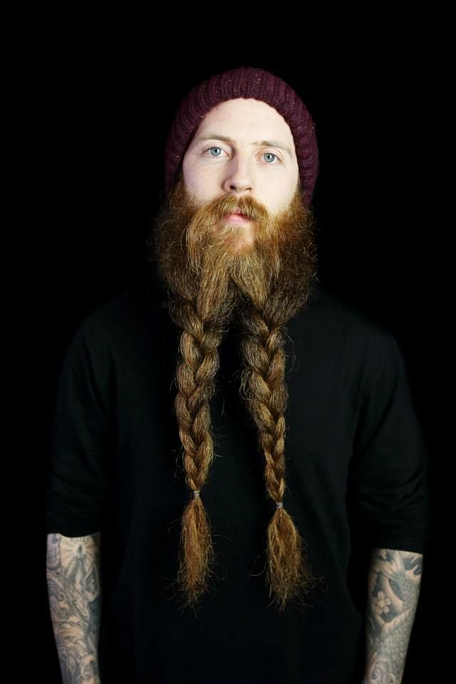 Braided Viking Beard