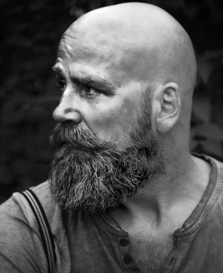 Hipster Bald With Beard